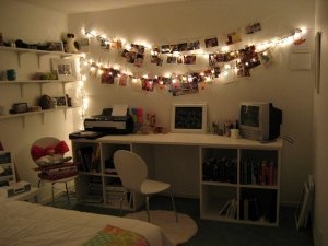 DIY fairy light photo lamp